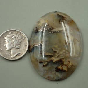 #AG 94 Plume Agate 30x40mm 59.70ct. $59.70