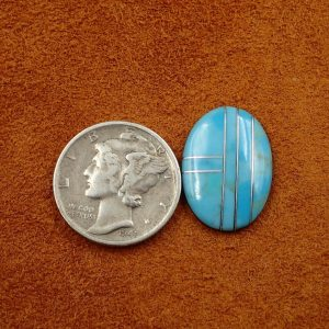 #726 Turquoise with Silver 3.55ct. 14x18mm $17.75