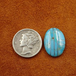 #727 Turquoise with Silver 4.85ct. 14x18mm $24.25
