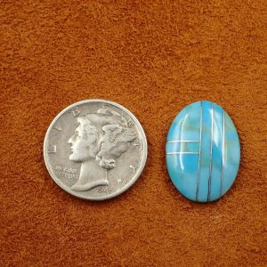 #729 Turquoise with Silver 4.25ct. 14x18mm $21.25