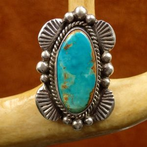J-20 Bisbee Turquoise Ring Size 6 ¼ Sterling $250.00