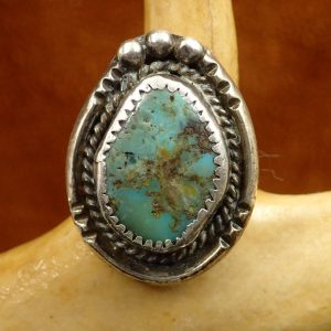 J-22 Turquoise Ring Sterling 7 ¼ Size $150.00