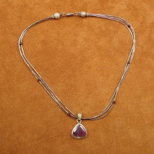 "J-36 Ruby 18"" Necklace .925 $150.00"