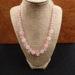 "J-38 Old Crystal Rose Quartz 17"" $250.00"