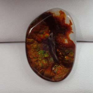 #AG-106 Fire Agate 19.55ct. 18x25mm $234.60