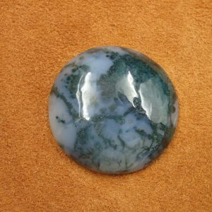 #AG 121 Moss Agate 89.70ct. 38mm $35.00