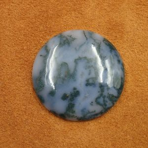 #AG 125 Moss Agate 73.05ct. 38mm $35.00