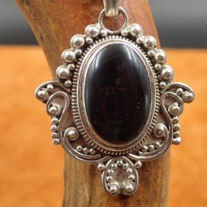 #J-08 Black Onyx Pendant 925. $65.00