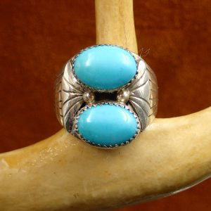 J-21 Turquoise Ring Size 11 ¾ S.hay Sign Sterling $250.00