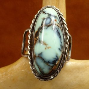 J-24 Turquoise Ring Sterling 6 ¼ Sign $150.00