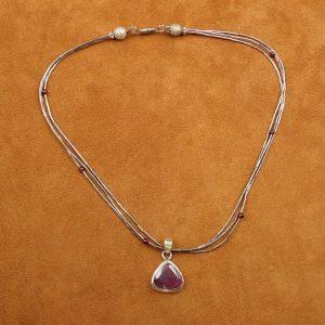 """J-36 Ruby 18"""" Necklace .925 $150.00"""