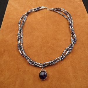 "J-37 Amethyst 22"" Necklace .925 $150.00"