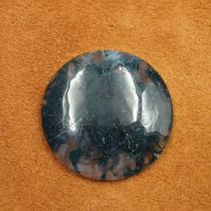 #AG 122 Moss Agate 68.65ct. 38mm $35.00
