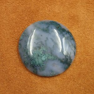 #AG 123 Moss Agate 73.05ct. 38mm $35.00