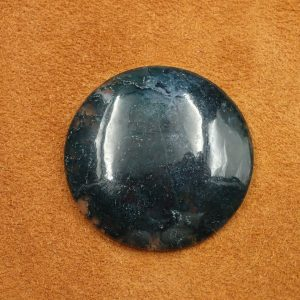 #AG 124 Moss Agate 70.85ct. 38mm $35.00